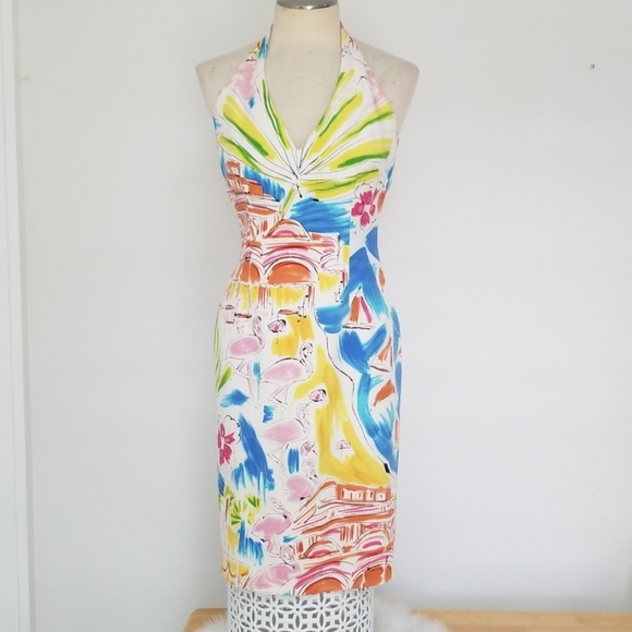David Meister Dresses & Skirts - David Meister silk halter dress
